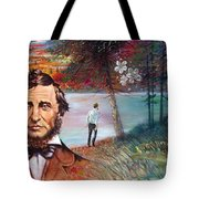 Henry David Thoreau Tote Bag by John Lautermilch