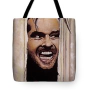 Here's Johnny Tote Bag by Tom Carlton