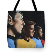 Heroes Of The Final Frontier Tote Bag by Kim Lockman