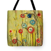 Hidden Poppies Tote Bag by Jennifer Lommers
