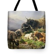Highland Cattle Tote Bag by William Watson