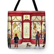 Hilltop Toys And Games Tote Bag by Lavinia Hamer