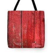Hinge On A Red Barn Tote Bag by Steve Gadomski