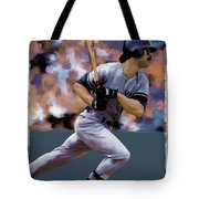 Hit Man  Don Mattingly  Tote Bag by Iconic Images Art Gallery David Pucciarelli