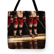 Hockey Reflection Tote Bag by Karol  Livote