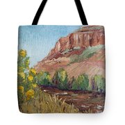 Hogback In Early Fall At Watson Lake Tote Bag by Margaret Bobb