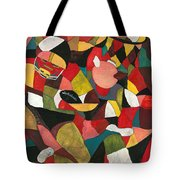 Hogs Hoops And A Pigskin Tote Bag by Nadine Rippelmeyer
