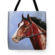 Horse Painting - Determination Tote Bag by Crista Forest