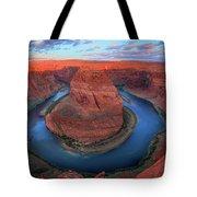 Horseshoe Bend Sunrise Tote Bag by Inge Johnsson