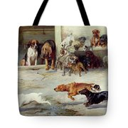 Hot Pursuit Tote Bag by William Henry Hamilton Trood