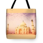 Hot Taj Mahal Tote Bag by Nila Newsom