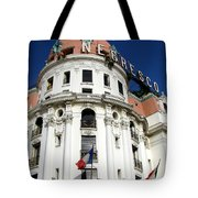 Hotel Negresco In Nice Tote Bag by Carla Parris