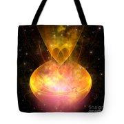 Hourglass Nebula Tote Bag by Corey Ford