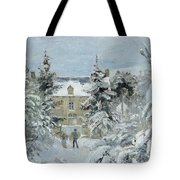 House At Montfoucault Tote Bag by Camille Pissarro