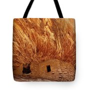 House on Fire Ruins Tote Bag by Melany Sarafis