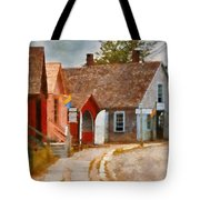 Houses - Maritime Village  Tote Bag by Mike Savad