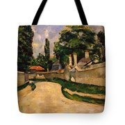 Houses Along A Road Tote Bag by Paul Cezanne