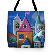 Houses Tote Bag by Caroline Peacock