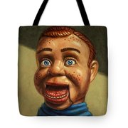 Howdy Doody Dodged A Bullet Tote Bag by James W Johnson