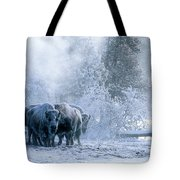 Huddled For Warmth Tote Bag by Sandra Bronstein