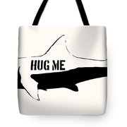Hug Me Shark - Black  Tote Bag by Pixel  Chimp