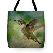 Hummingbird In Flight II Tote Bag by Sandy Keeton