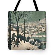 Hunters In The Snow Tote Bag by Pieter the Elder Bruegel