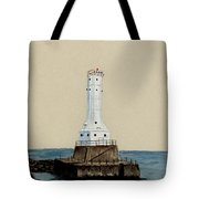 Huron Harbor Lighthouse Tote Bag by Michael Vigliotti