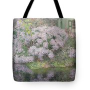 Hydrangeas On The Banks Of The River Lys Tote Bag by Emile Claus