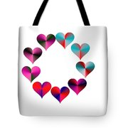 I Heart Rainbows Tote Bag by Michael Skinner
