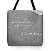 I Love You Tote Bag by Rheann Earnest