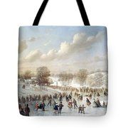 Ice Skating, 1865 Tote Bag by Granger