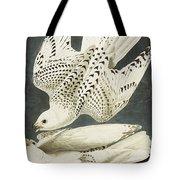 Iceland Or Jer Falcon Tote Bag by John James Audubon