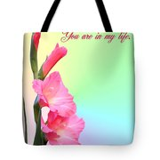 I'm so glad You are in my life Tote Bag by Kristin Elmquist