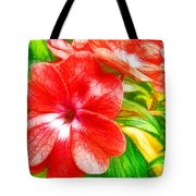 Impatiens Flower Tote Bag by Lanjee Chee