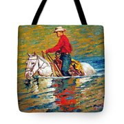 In Deep Water Tote Bag by John Lautermilch