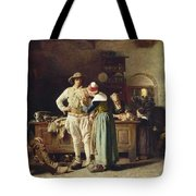 In Hoc Signo Vinces Tote Bag by Thomas Hovenden