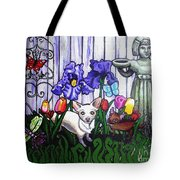 In The Chihuahua Garden Of Good And Evil Tote Bag by Genevieve Esson
