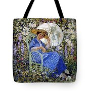 In The Garden Tote Bag by Frederick Carl Frieseke