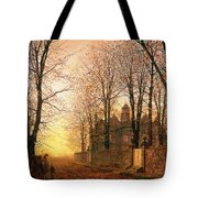 In The Golden Olden Time Tote Bag by John Atkinson Grimshaw