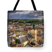 In The Heart Of The City Tote Bag by Evelina Kremsdorf