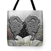 In The Land Of The Dragons Tote Bag by Mo T