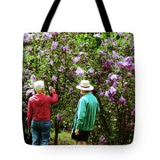 In The Lilac Garden Tote Bag by Susan Savad