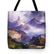 Index Peak Yellowstone National Park Tote Bag by Thomas Moran