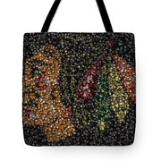 Indian Hockey Puck Mosaic Tote Bag by Paul Van Scott