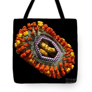 Influenza Virus Cutaway 5 Tote Bag by Russell Kightley