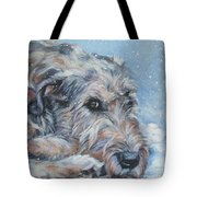 Irish Wolfhound Resting Tote Bag by Lee Ann Shepard