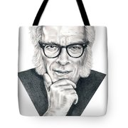 Isaac Asimov Tote Bag by Murphy Elliott