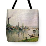 Island Of The Cross At Rouen Tote Bag by Camille Pissarro