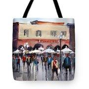 Italian Marketplace Tote Bag by Ryan Radke